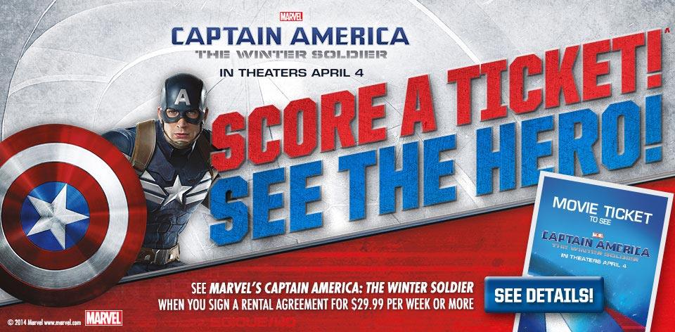 Marvel - Captain America - The Winter Soldier - Score A Ticket - See the Hero