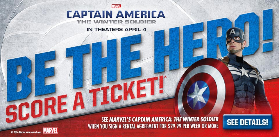 Marvel - Captain America - The Winter Soldier - Be The Hero! Score A Ticket