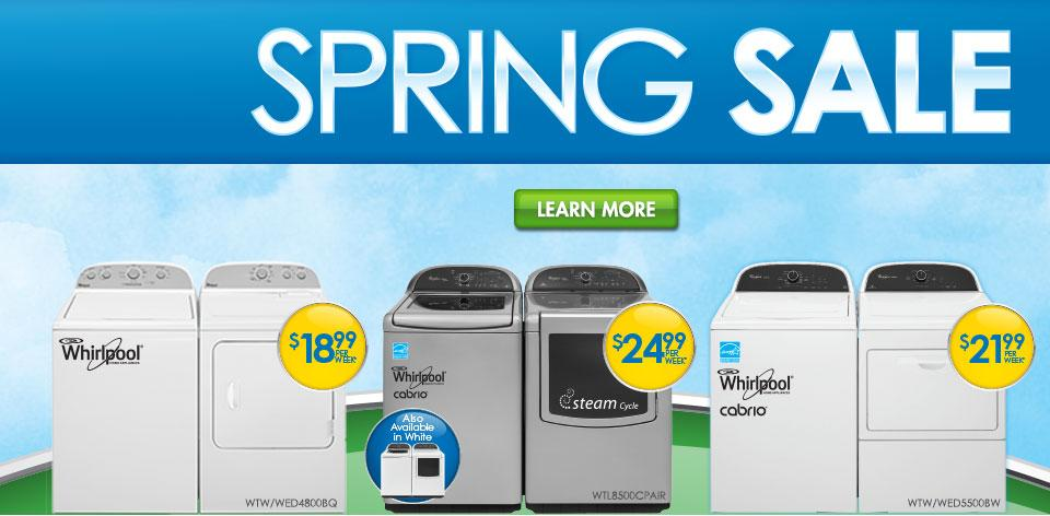 Spring Sale - Washers and Dryers