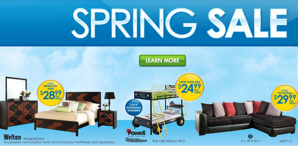 Spring Sale on Furniture