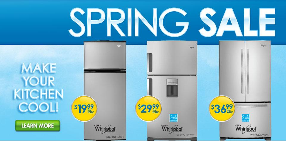 Spring Sale Refrigerators - Make your kitchen cool!