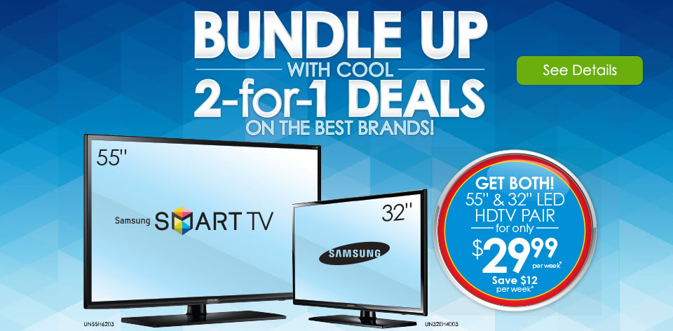 Get Both! 52 in. and 32 in. LED HDTV Pair. See Details