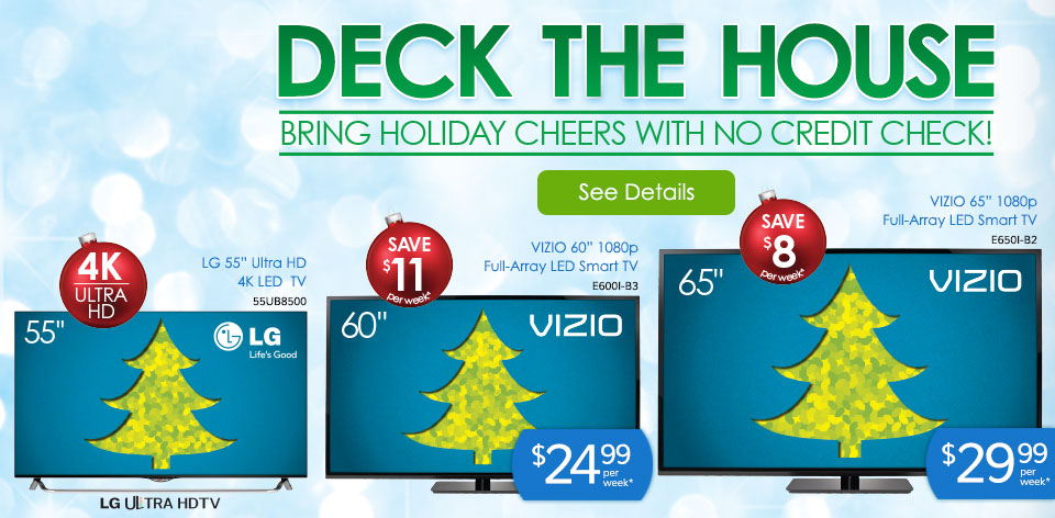 Deck the House - Bring Holiday Cheers with No Credit Check!