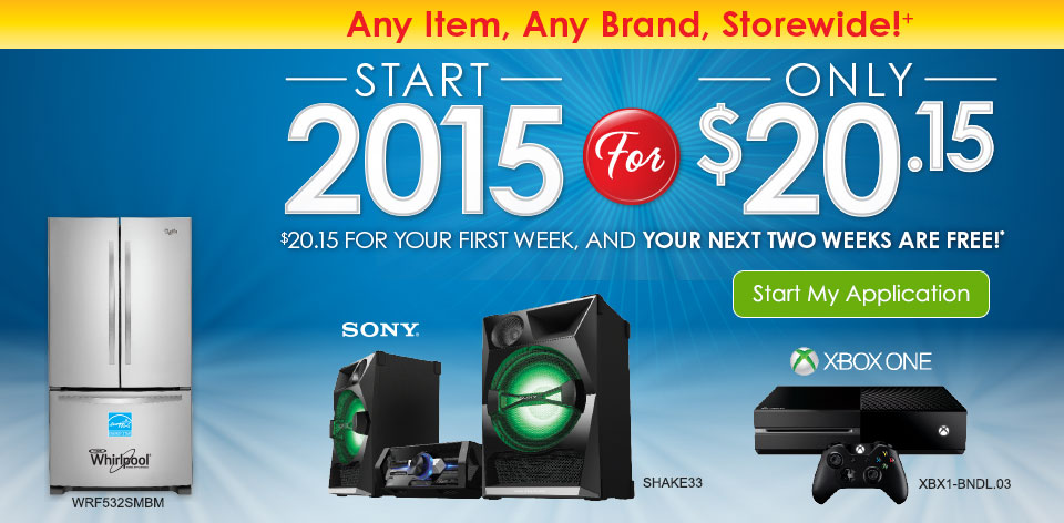 Any Item, Any Brand, Storewide!+ Start 2015 for Only $20.15. $20.15 for your first week, and your next two weeks are free!*