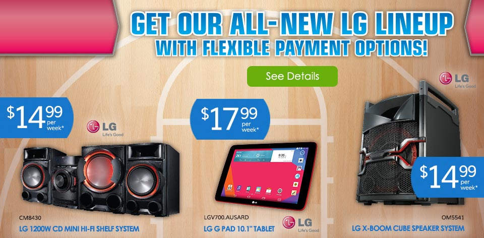Get Our All-New LG Lineup with Flexible Payment Options!