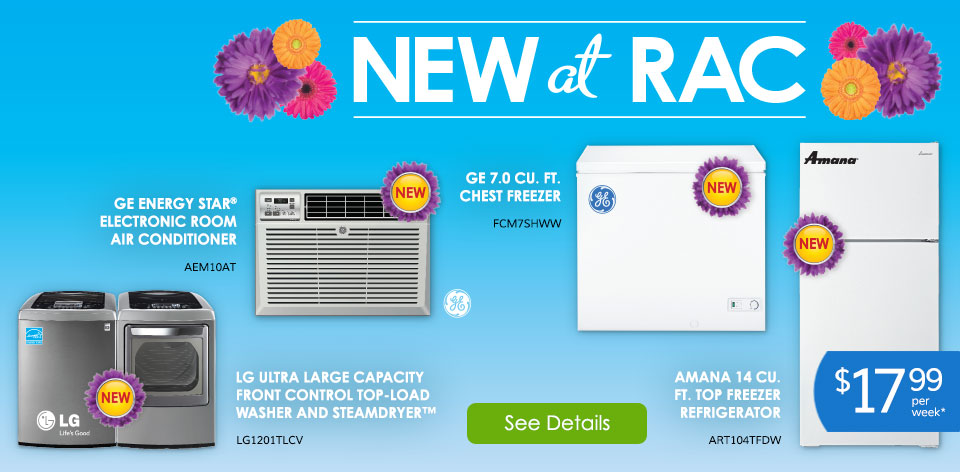 Spring Appliances - New at RAC! See Details