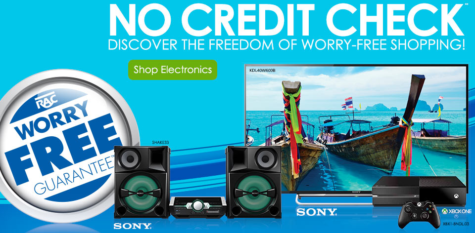 No credit check** Discover the freedom of worry-free shopping! Shop Electronics