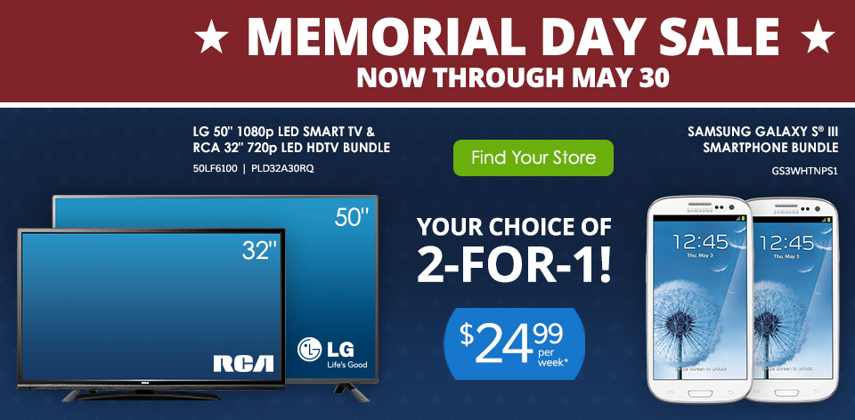 Memorial Day Sale - Now through May 30
