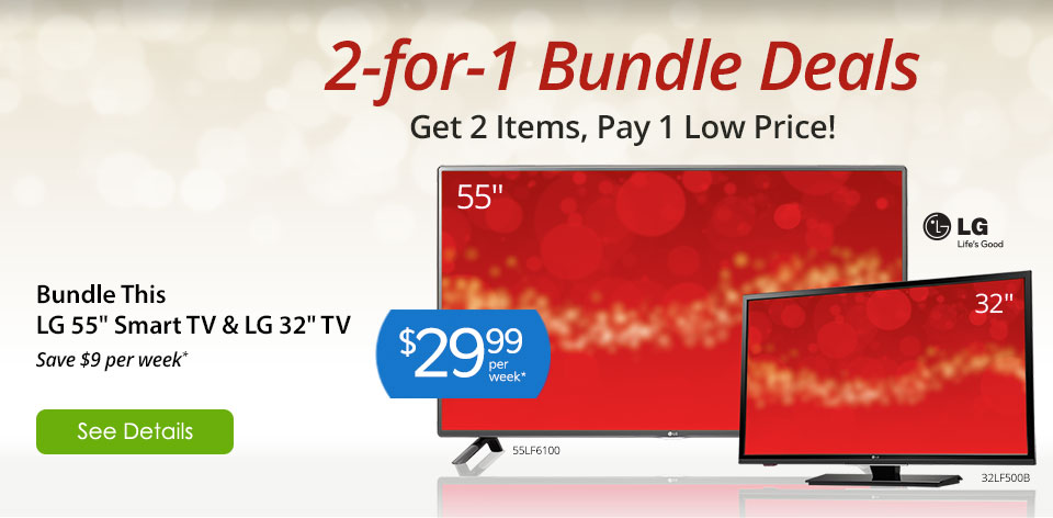 2-for-1 bundles deals on electronics. See Details