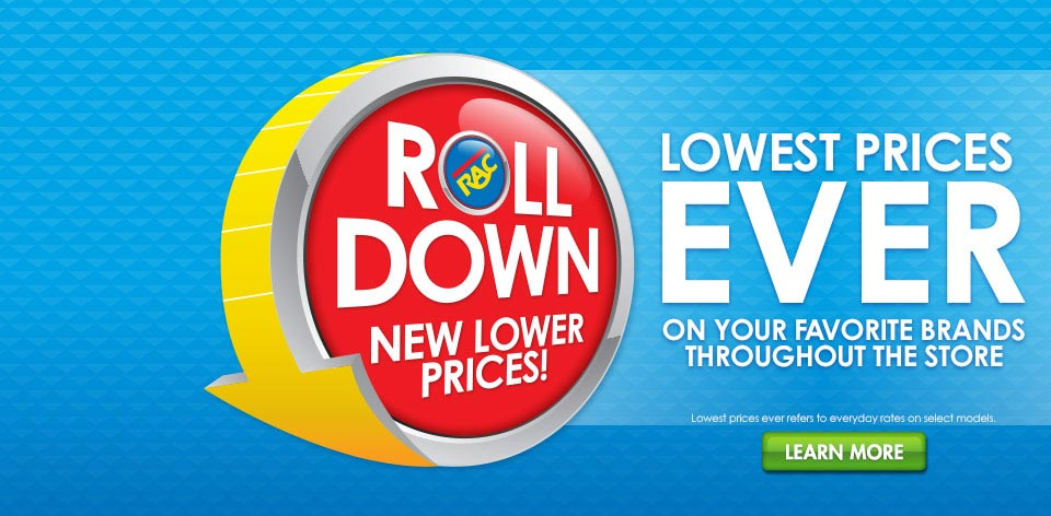 RAC Rolldown - Lowest Prices Ever!
