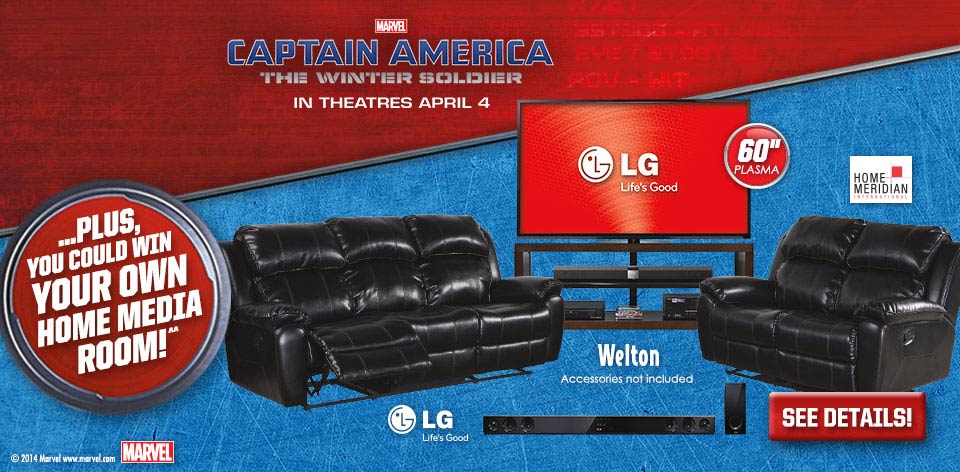 You Could Win Your Own Media Room! - Marvel - Captain America - The Winter Soldier