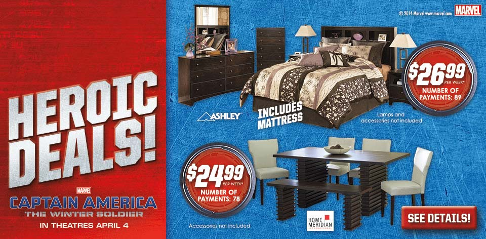 Heroic Deals on Furniture - Marvel - Captain America - The Winter Soldier