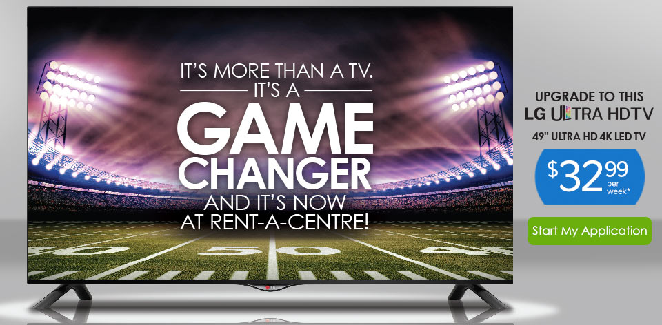 It's More than a TV. It's a Game Changer and It's Now at Rent-A-Centre! 49
