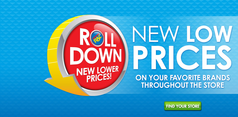 Roll Down New Lower Prices