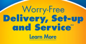 Worry-Free Delivery, Set-Up, and Service** - Learn More