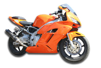 Image of Orange Race bike