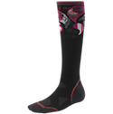 Smartwool Socks PhD Women's Ultra Light Cushion Ski Black Berry