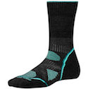 Smartwool Socks PhD Women's Outdoor Light Crew Charcoal