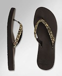 Reef Star Cushion Luxe Sandals Brown Leopard
