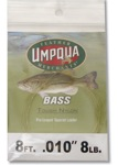 Umpqua Bass Tough Nylon Leader 8ft  8lb